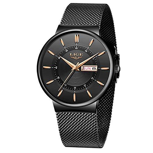 LIGE Herren Uhren Wasserdicht Männer Armbanduhr...