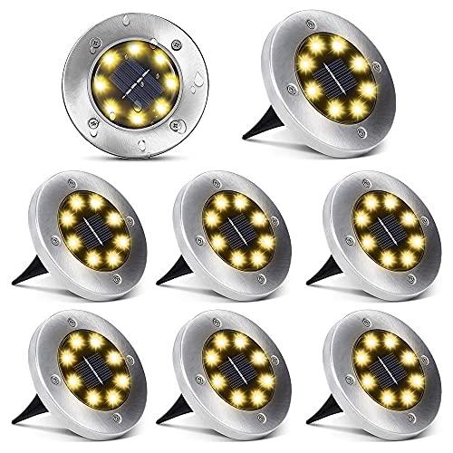 Solarleuchten für Außen 8 LEDs Solar...