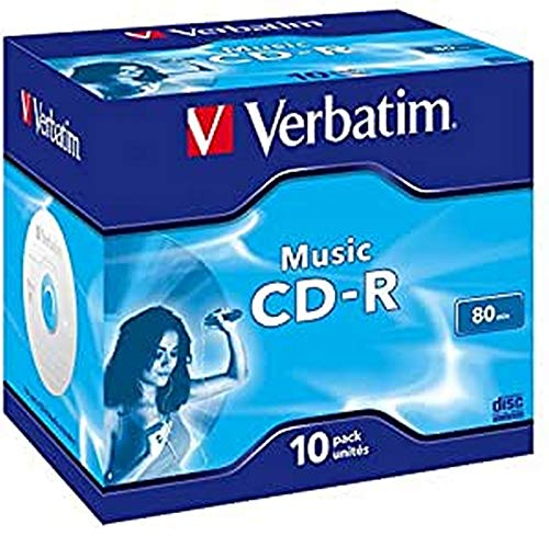 Verbatim Music CD-R 80 Min I 10er Pack Jewel Case...