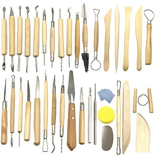 Aisamco 40 Stücke Keramik Ton Werkzeuge Kit...