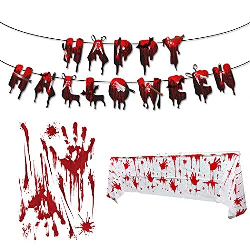 Halloween-Deko-Set, gruselige...