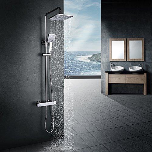Homelody Duschsystem mit Thermostat Regendusche...