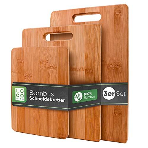 Loco Bird massive Bambus Schneidebretter 3er Set -...