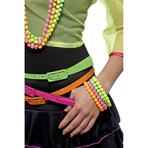 NET TOYS Vier Neon Armreife gelb grün pink und...