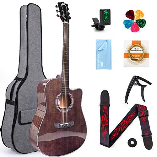 AKLOT 4/4 Akustikgitarre 41 Zoll Mahagoni...
