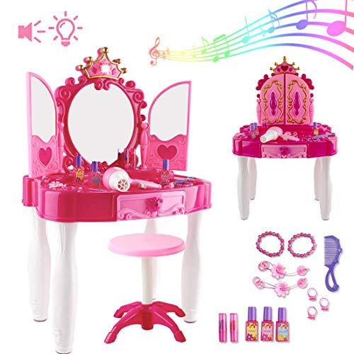 deAO Frisierkommode für Mädchen -Spielset mit...