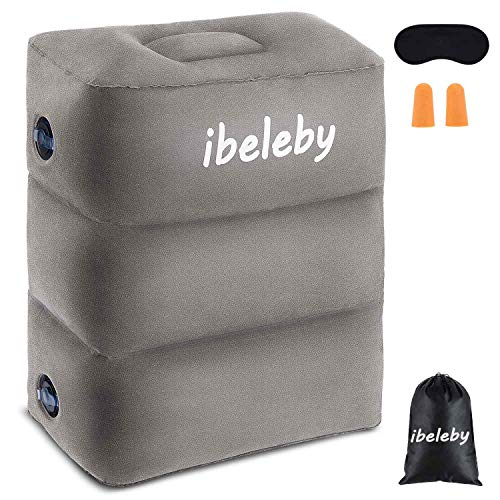iBeleby Flugzeug-Fußstütze, Aufblasbares...