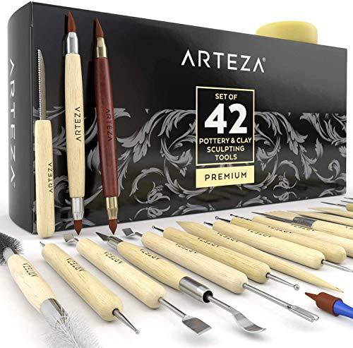 ARTEZA Modellierwerkzeug 42er Set, Töpferwerkzeug...