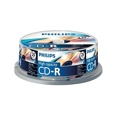 Philips CD-R Rohlinge (800 MB Data/ 90 Minuten,...
