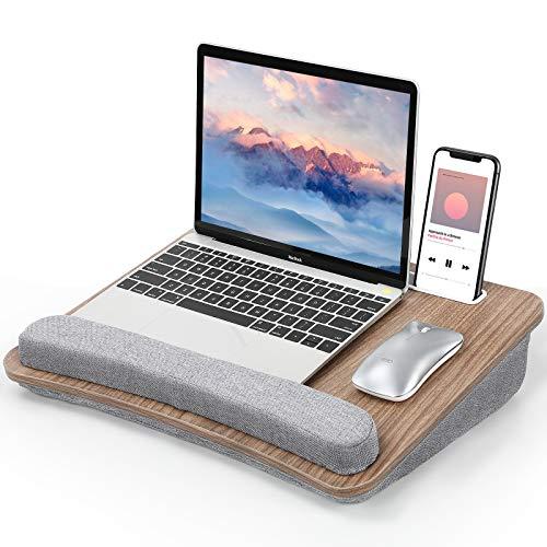 Furminics Schwarze Laptop-Ablage mit Kissen,...