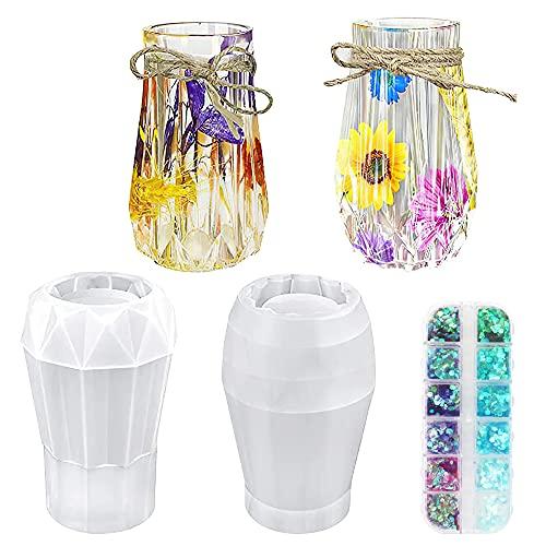 Silikon Formen, 2 Stücke Vase Kristall...