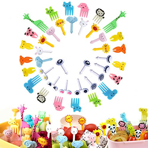 Stück Mini Tiere Zahnstocher für Kinder -40 PCS...