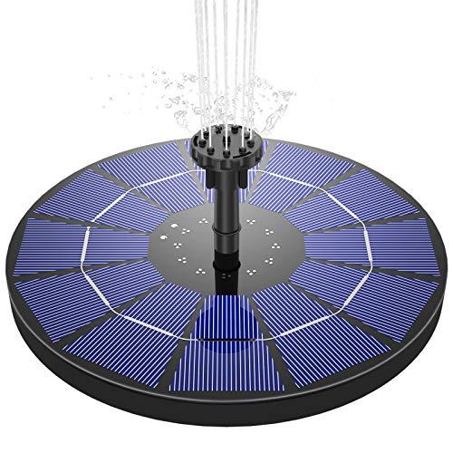 AISITIN Solar Springbrunnen 3.5W Solar Teichpumpe...