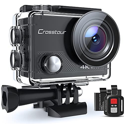 Action Cam 4K, Unterwasserkamera Crosstour CT9000...