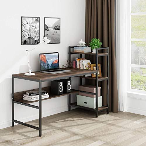Roguoo Holz Schreibtisch mit 4 Ablage...