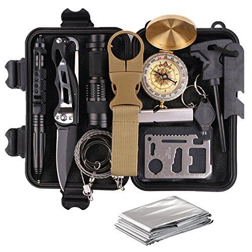 Veitorld Survival Kit Set, Camping und Reisen -...