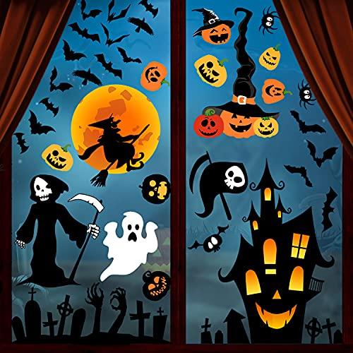 Svanco Halloween Aufkleber Halloween fenster...