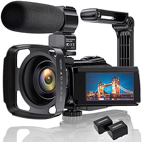 4K Videokamera Camcorder Ultra HD 48MP WiFi IR...