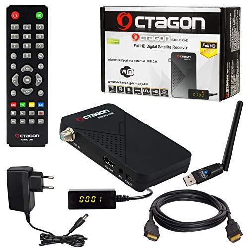 HB-DIGITAL Mini SAT-Receiver Octagon SX8 HD ONE +...