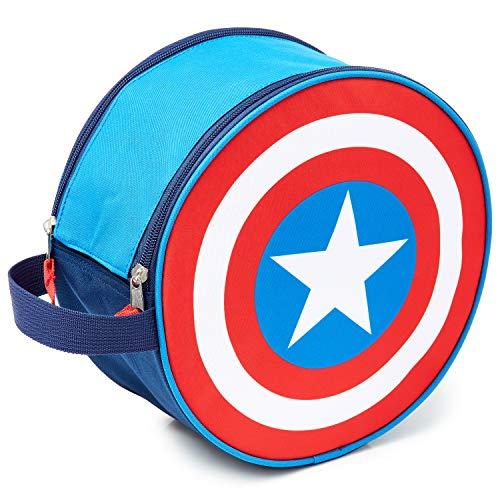 Marvel Kulturbeutel Kinder, Captain America Herren...