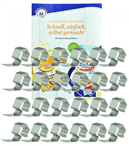 WECK Einweck-Klammern, 24 Stück, aus Edelstahl,...