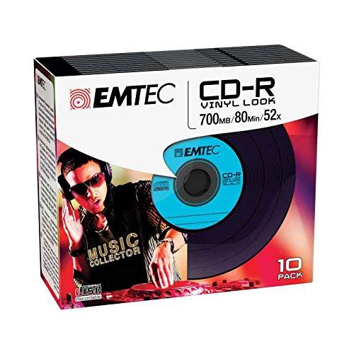 Emtec CD-R Vinyl Look CD-R 700MB 10Stück(E) -...