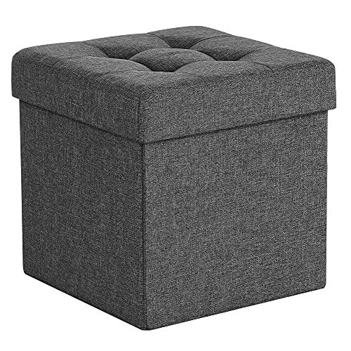 SONGMICS Sitzhocker mit Stauraum, Sitzwürfel mit...