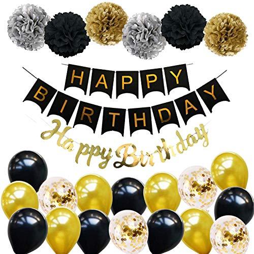 Ohighing Happy Birthday Schwarz Geburtstag Party...