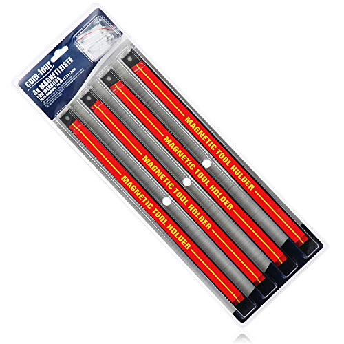 com-four® 4X Magnet Werkzeughalter - Magnetleiste...