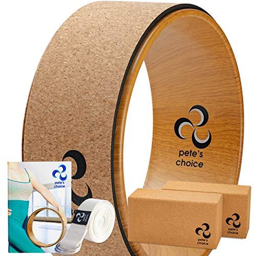 Yoga Rad Holz und Yoga Blocks aus Kork mit...