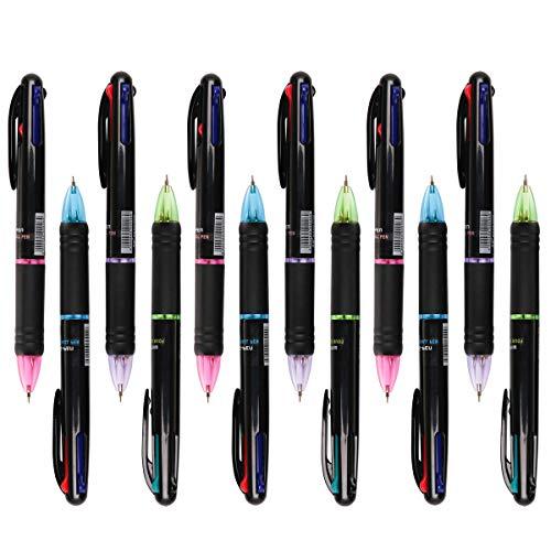 12 Stücke Kugelschreiber Mehrfarbig 4 in 1...