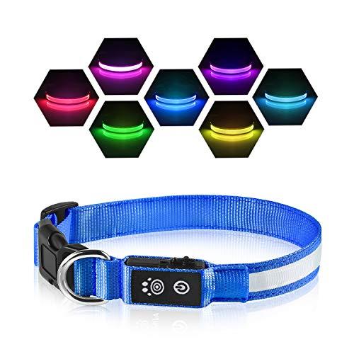 LED Leuchthalsband Hunde Halsband USB...