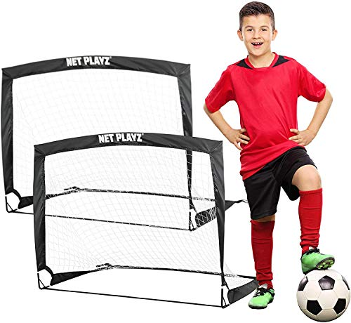 NET PLAYZ - 2er Set faltbar Tor - Fußball-Tor Pop...