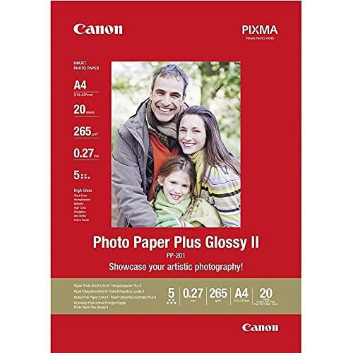 Canon Fotopapier PP-201 glänzend weiß - DIN A4...