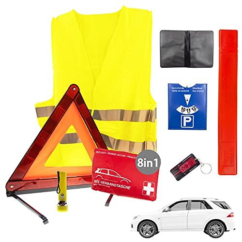 8in1 Sicherheit & Erste Hilfe Set Auto 2021 |...