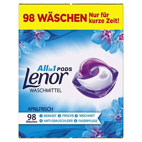 Lenor Waschmittel Pods All-in-1, 98 Waschladungen...