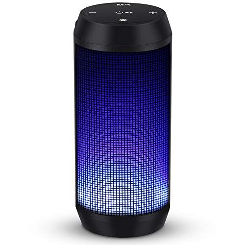 Bluetooth Lautsprecher Musikbox Tragbarer LED...