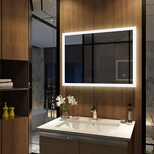 Meykoers Wandspiegel Badezimmerspiegel LED...