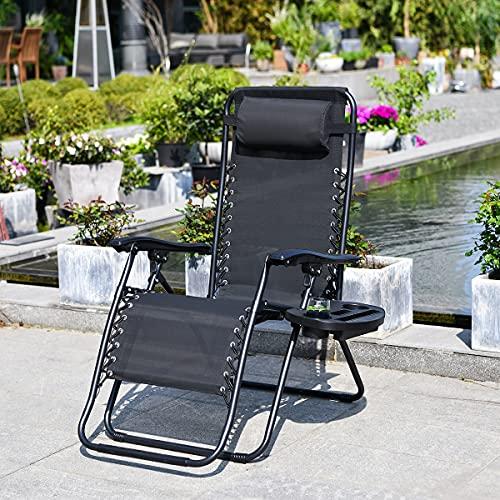 Liegestuhl Klappbar und Verstellbar Garten...