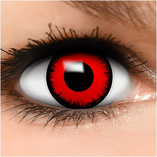 Farbige Kontaktlinsen Volturi Vampir in rot +...