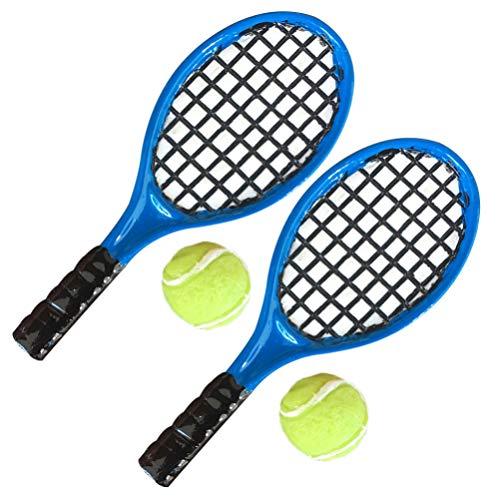EXCEART 4Pcs Puppenhaus Miniatur Tennisschläger...