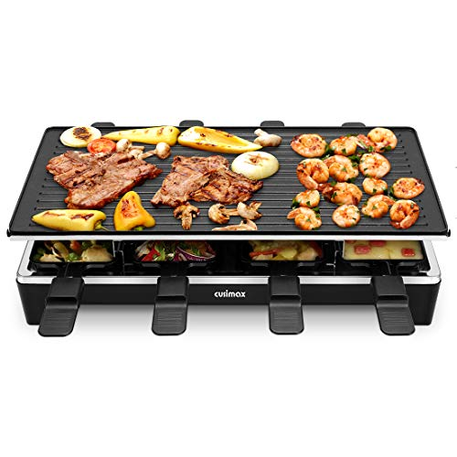 Cusimax Raclette Grill mit Reversible Grillpfanne,...