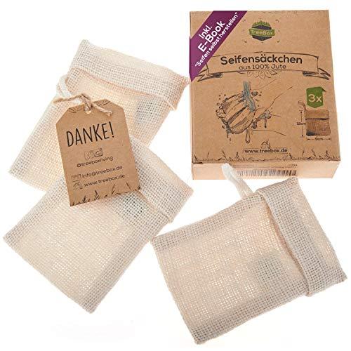 TreeBox Zero Waste Seifensäckchen aus Jute mit...