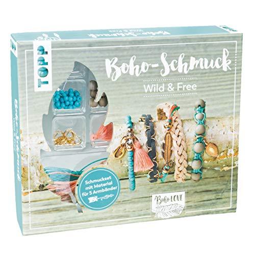 Boho-Schmuckset Wild & Free (Türkis/ Lachs):...