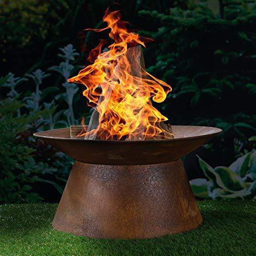 HI Feuerschale in Rostoptik Feuerstelle...