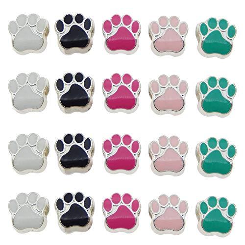 Julie Wang 100er Mixed Cat Dog Paw Footprint...