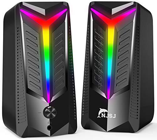 NJSJ PC Lautsprecher,10 W RGB Gaming Lautsprecher...