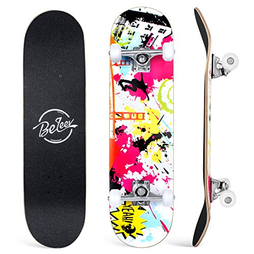 BELEEV Skateboard 31x8 Zoll Komplette Cruiser...