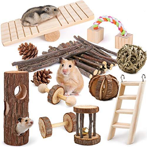 LOGEEYAR Hamster Kauspielzeug 12 Stück...
