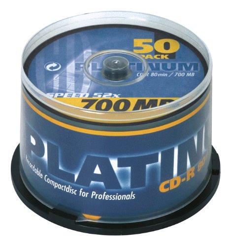 PLATINUM CD-R 700 MB CD-Rohlinge 52x Speed, 80...